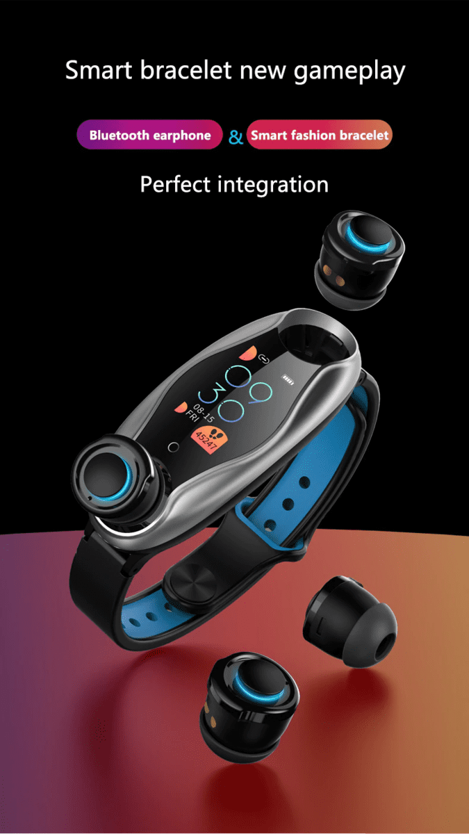 Smartband LEMFO LT04 con Auriculares inalambricos a 44€ 1569750722742-png.370350