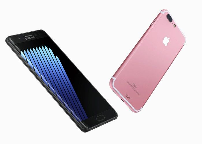 La autonomía del iPhone 7 es lamentable comparada con la de los topes de gama Android note7-vs-apple-iphone-7-plus-samsung-jpg.130065