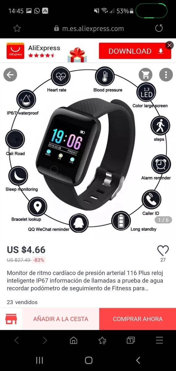 Reloj inteligente 116 Plus solo 4.66$ screenshot_20200426-144557_samsung-internet-jpg.382274