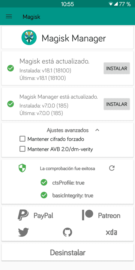 Off-Topic del Xiaomi RMN5. screenshot_magisk_manager_20190204-105517-png.351245