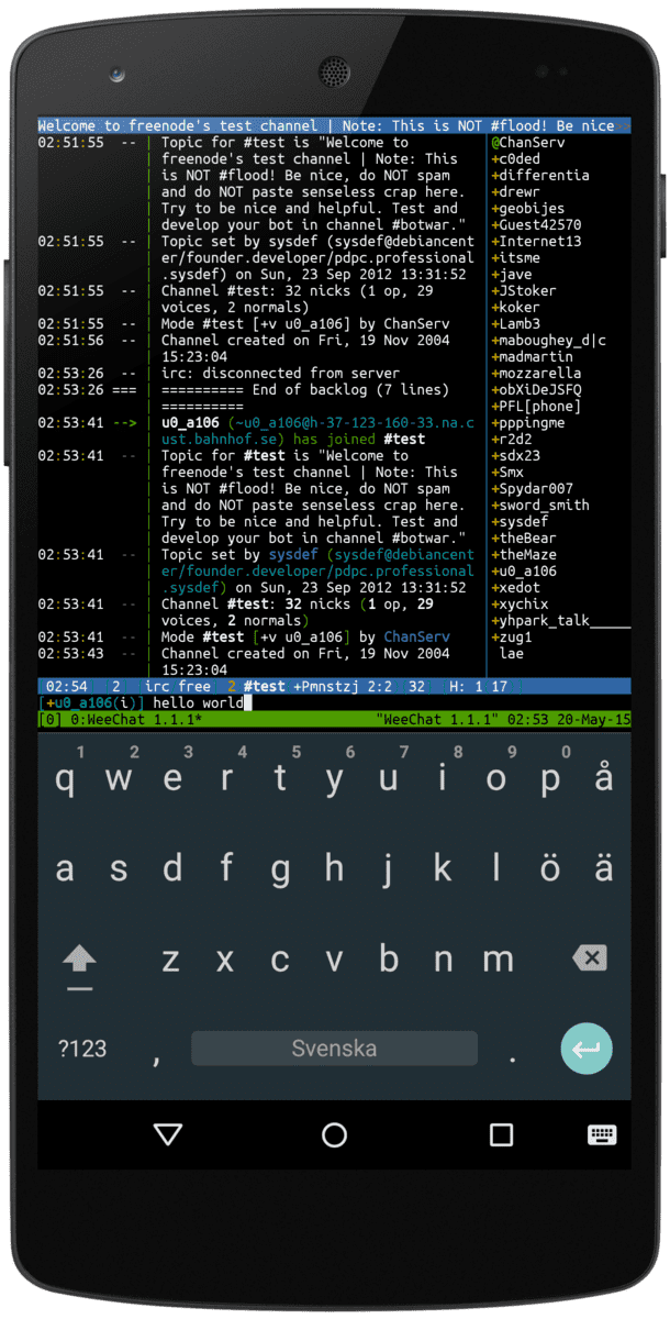 TERMUX, UN TERMINAL PARA ANDROID POTENTE Y ESPECTACULAR weechat-with-keyboard_framed-png.384511