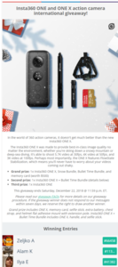 Insta360 ONE and ONE X action camera international giveaway.png